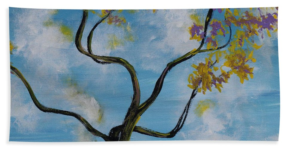 Impressionism Hand Towel featuring the painting A Little All Over The Place by Stefan Duncan