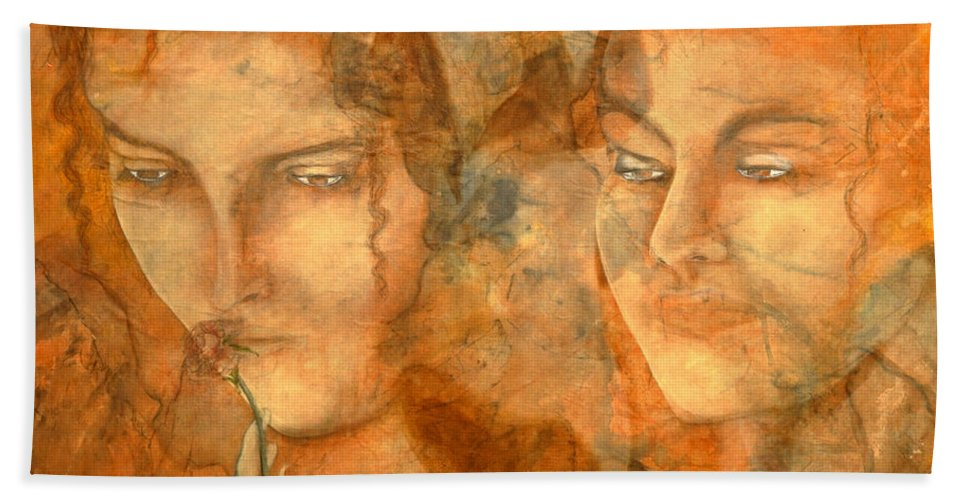 Giorgio Hand Towel featuring the painting A Love That Will Never Fade by Giorgio Tuscani