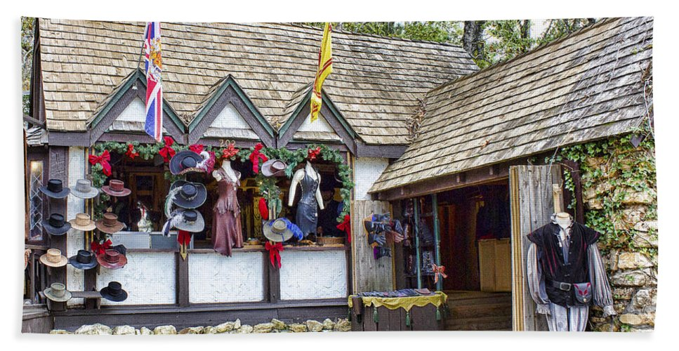Texas Renaissance Festival Hand Towel featuring the photograph A Touch Of Class by TN Fairey