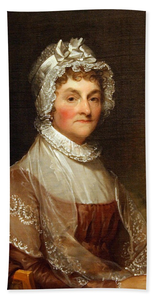 Abigail Smith Adams Bath Sheet featuring the photograph Abigail Smith Adams By Gilbert Stuart by Cora Wandel