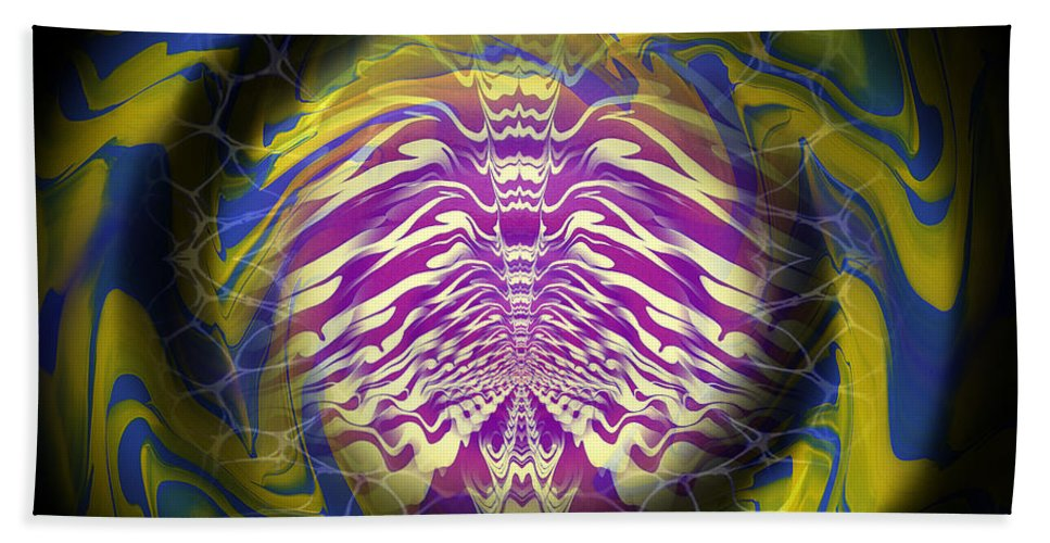 Original Hand Towel featuring the painting Abstract 141 by J D Owen