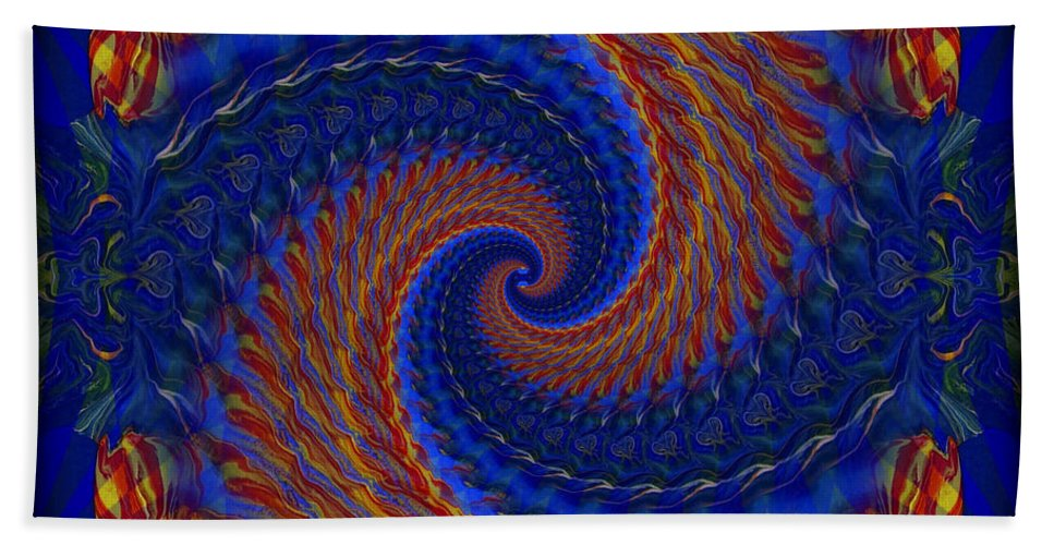Original Hand Towel featuring the painting Abstract 142 by J D Owen