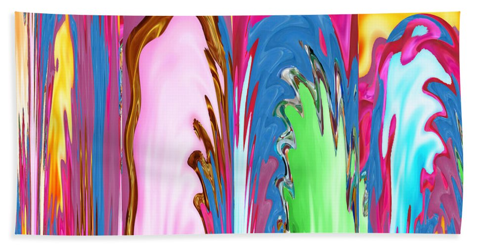 Canvas Prints Hand Towel featuring the mixed media Abstract Emotional Stages Confusion Disbelief Grief Anger Walkaway by Navin Joshi
