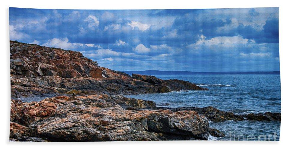 Acadia National Park Bath Sheet featuring the photograph Acadia National Park by Steve Clough