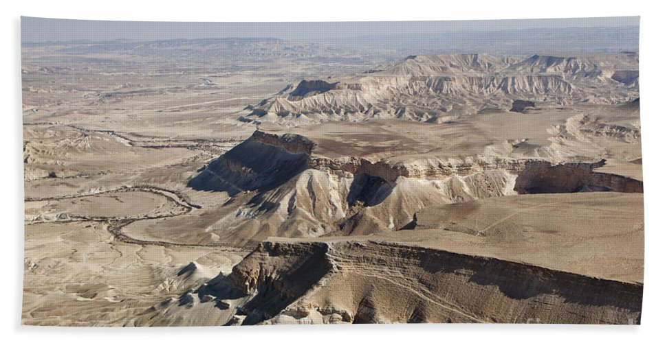 Aerial View Bath Sheet featuring the photograph 1-aerial Photography Of The Negev by Nir Ben-Yosef