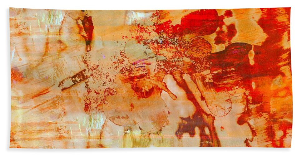 Abstract Bath Sheet featuring the painting After The Rain by Barbie Guitard