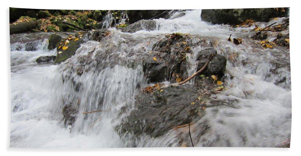 Alaska Hand Towel featuring the photograph Alaskan Waterfall by Richard Booth