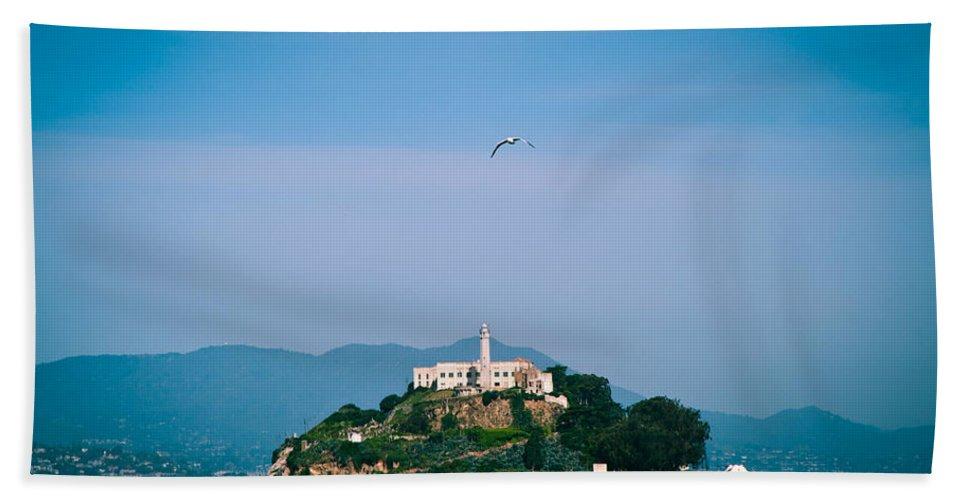 Alcatraz Bath Sheet featuring the photograph Alcatraz by Zina Zinchik