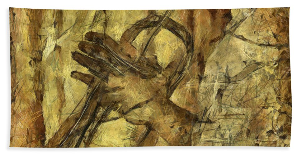 Concepts Hand Towel featuring the mixed media All That Jazz by Michal Boubin