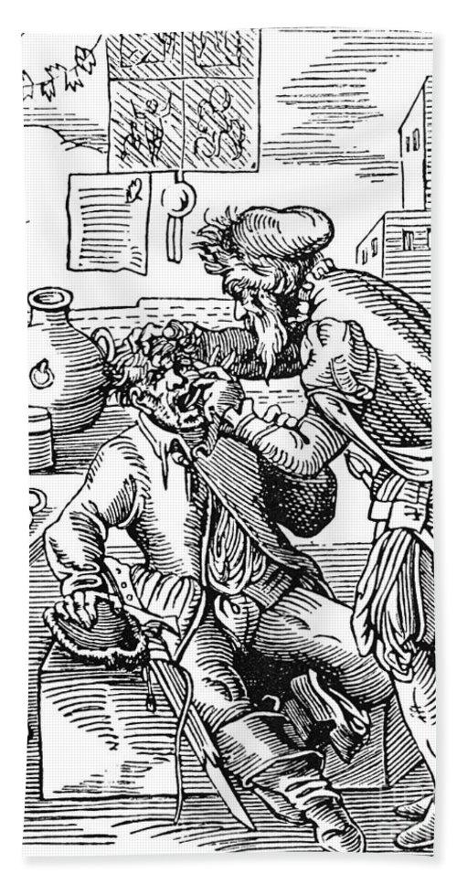 1568 Bath Sheet featuring the photograph Amman: Dentist, 1568 by Granger