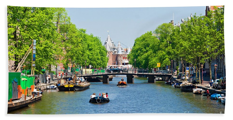 Amsterdam Hand Towel featuring the photograph Amsterdam by Luciano Mortula