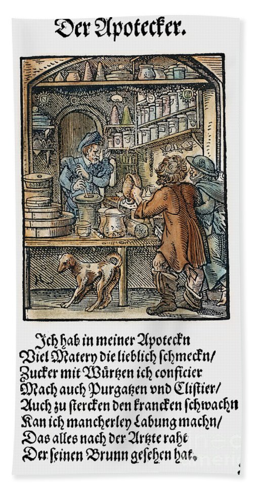 1568 Bath Sheet featuring the photograph Apothecary, 1568 by Granger