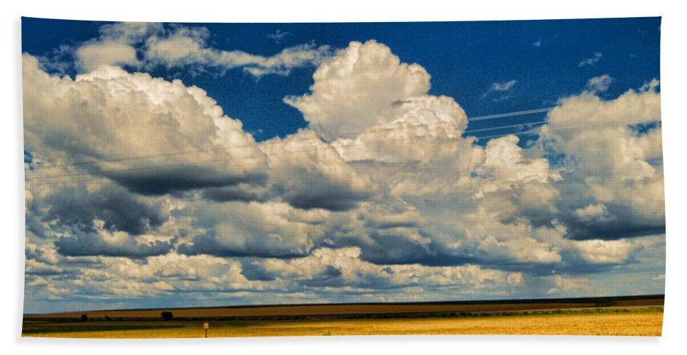 Wright Bath Towel featuring the photograph Approaching Storm by Paulette B Wright