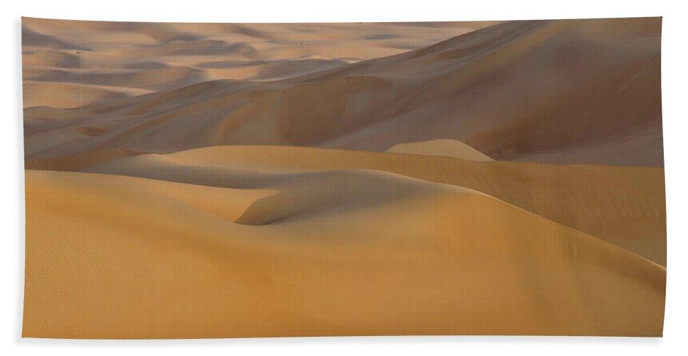 Abu Dhabi Bath Sheet featuring the photograph Arabian Sands by Michele Burgess