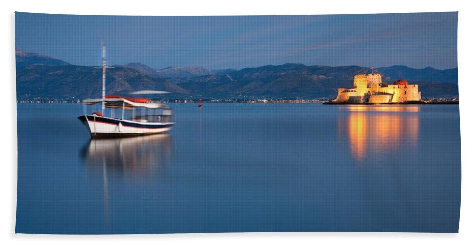 Greece Bath Sheet featuring the photograph Argolikos Bay by Milan Gonda