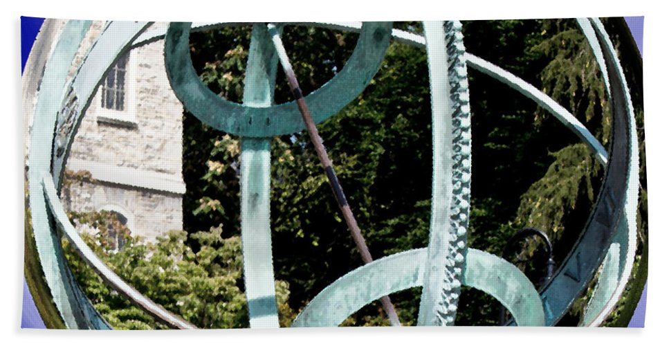 Art Hand Towel featuring the photograph Armillary Sphere by Tom Gari Gallery-Three-Photography
