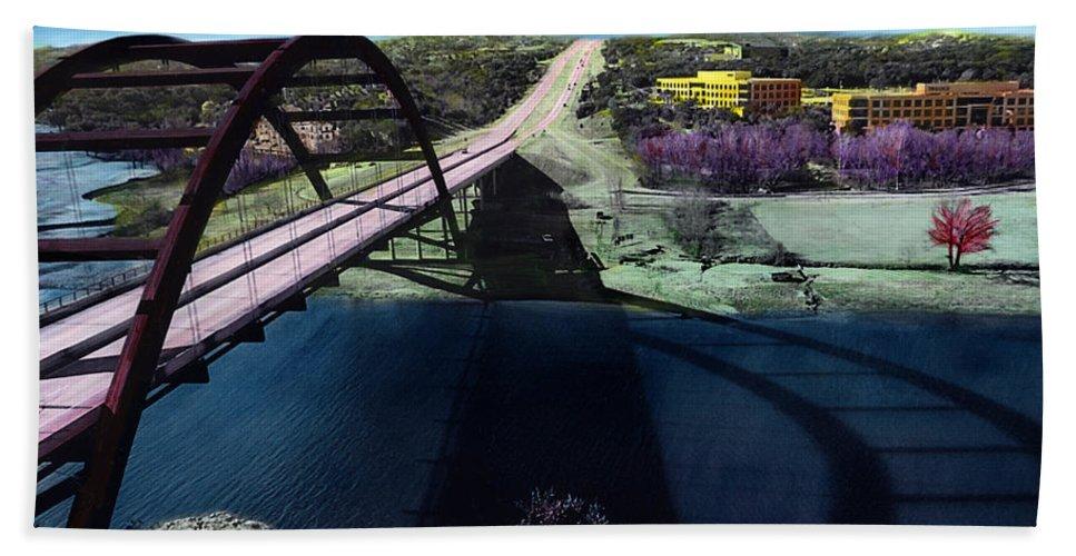 Austin Bath Sheet featuring the photograph Austin 360 Bridge by Marilyn Hunt