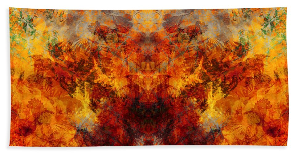 Autumn Bath Sheet featuring the painting Autumn Glory by Christopher Gaston