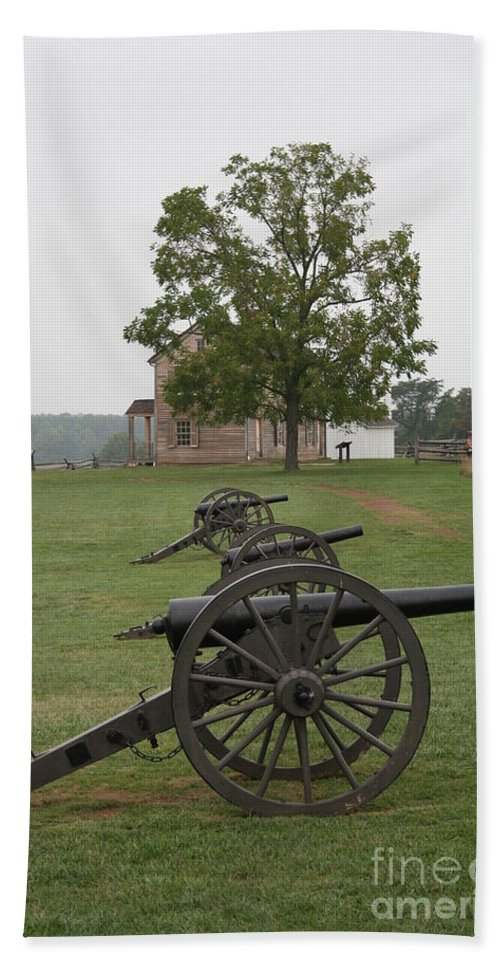Cannon Hand Towel featuring the photograph Battlefield Manassas by Christiane Schulze Art And Photography