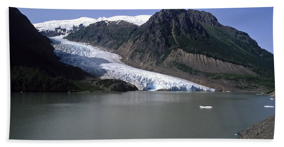 Americas Bath Sheet featuring the photograph Bear Glacier by Roderick Bley