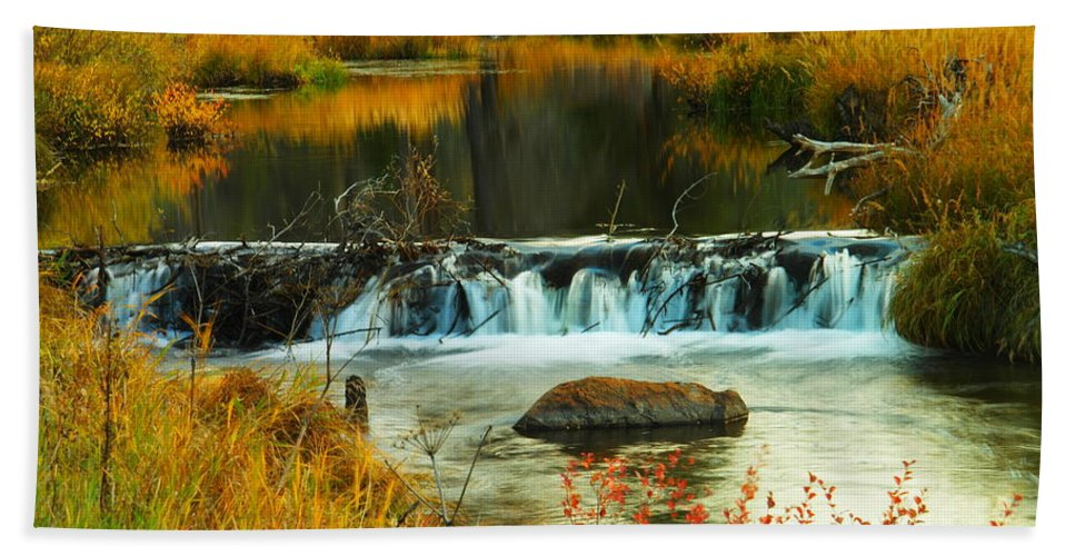 Rivers Bath Sheet featuring the photograph Beautiful Water by Jeff Swan