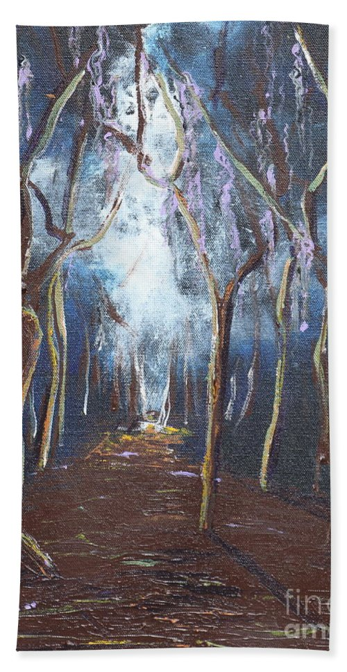 Landscape Hand Towel featuring the painting Before Hope Fades by Stefan Duncan