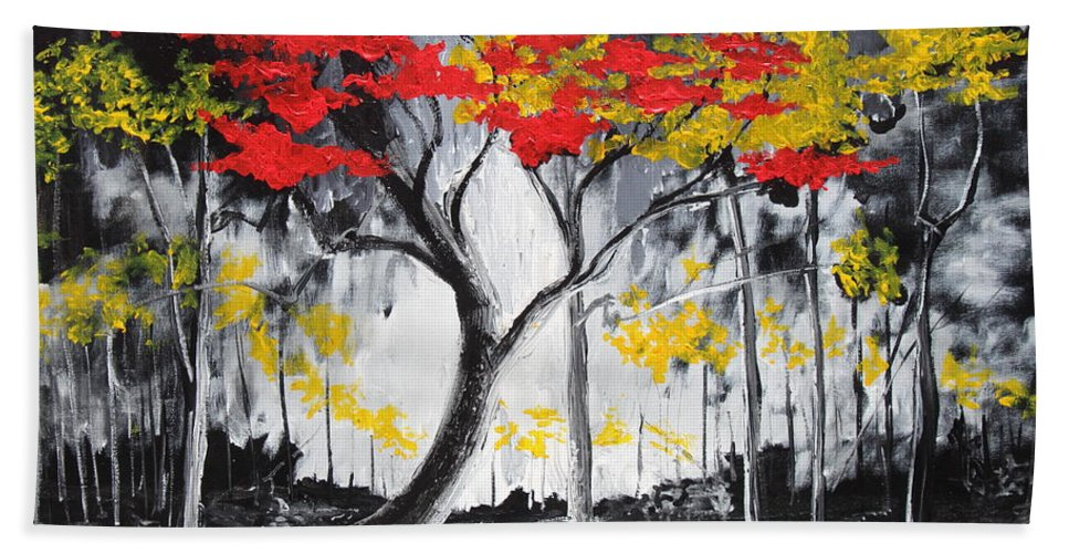Landscape Hand Towel featuring the painting Behold The Light by Stefan Duncan