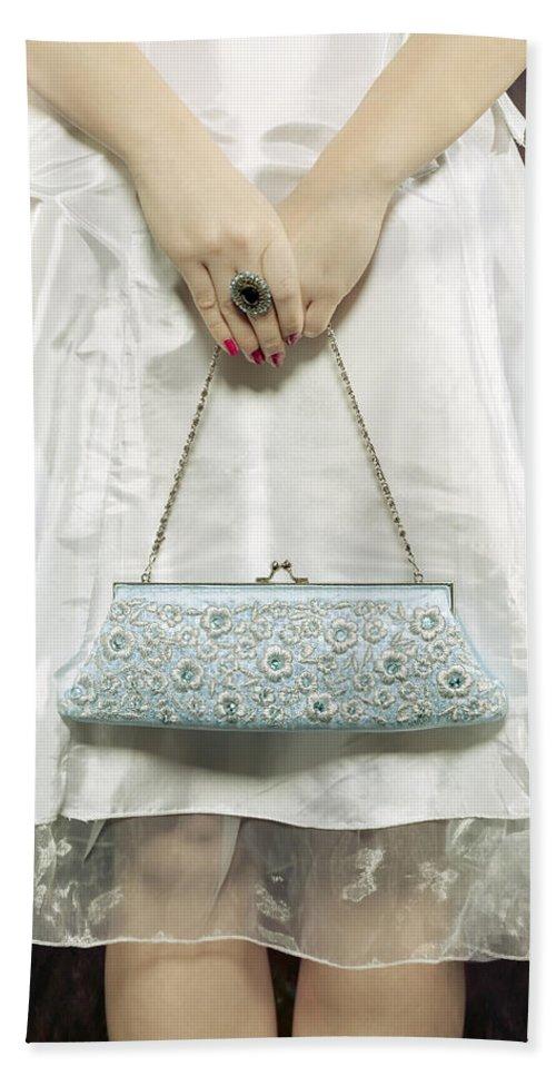 Woman Hand Towel featuring the photograph Blue Handbag by Joana Kruse