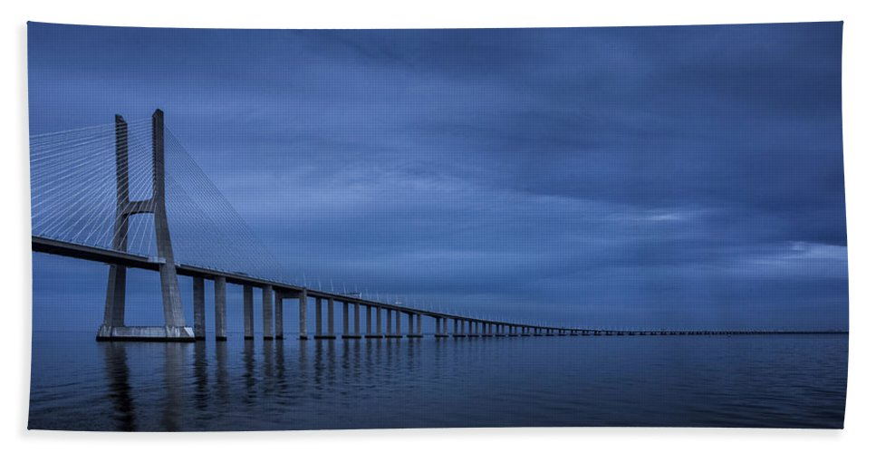 Clouds Hand Towel featuring the photograph Blue by Jose Bispo