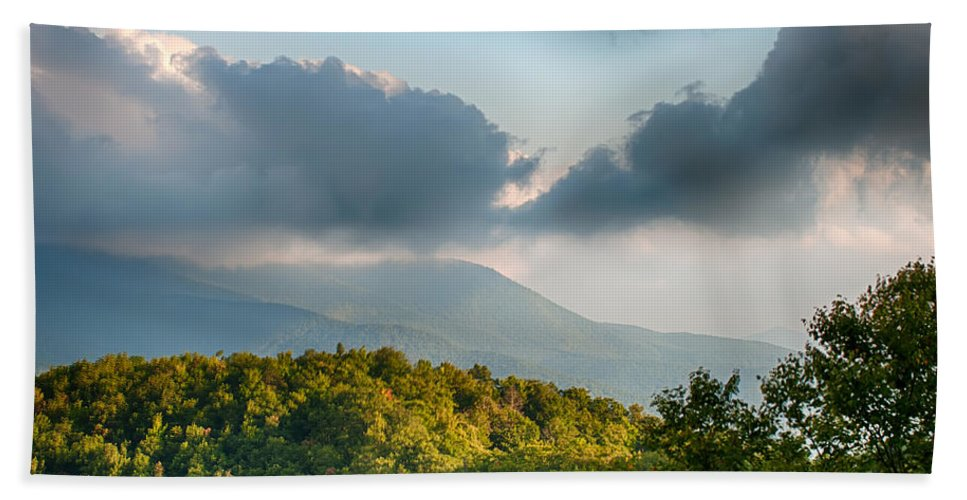 Mountains Bath Sheet featuring the photograph Blue Ridge Parkway Scenic Mountains Overlook Summer Landscape by Alex Grichenko