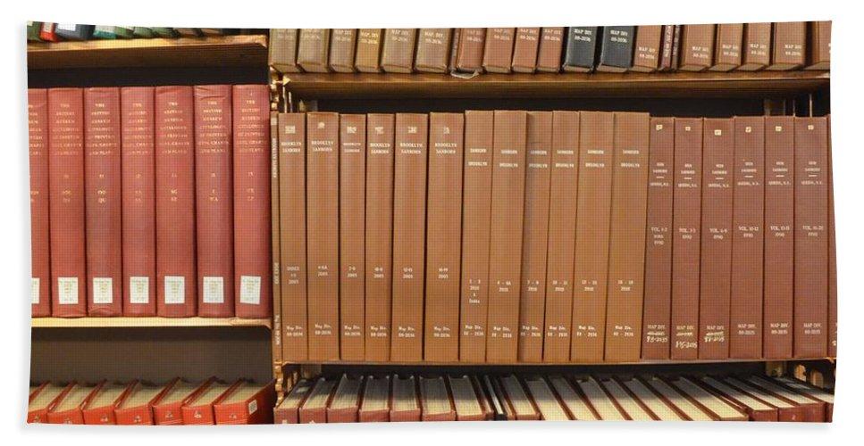 Bookshelf Bath Sheet featuring the photograph Bookshelves by Philip Ralley