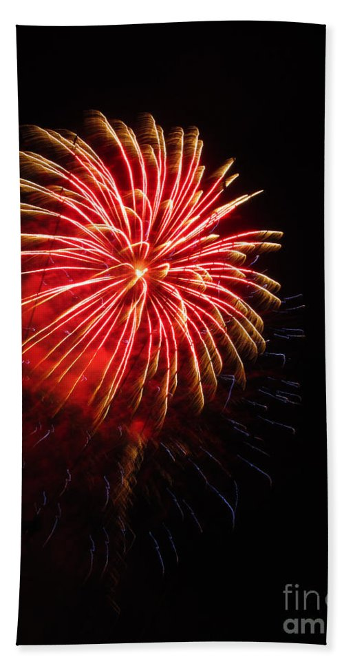 Fireworks Bath Sheet featuring the photograph Boom by Jamie Smith