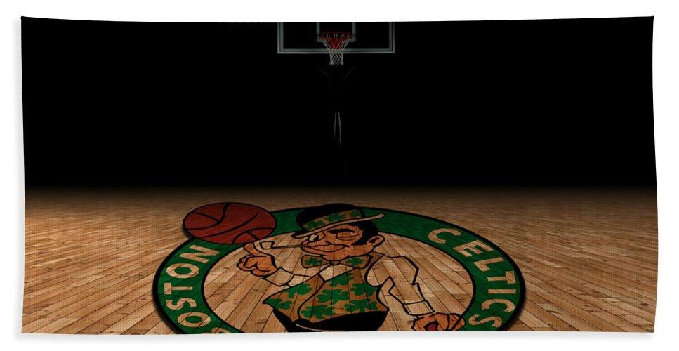 Celtics Bath Sheet featuring the photograph Boston Celtics by Joe Hamilton