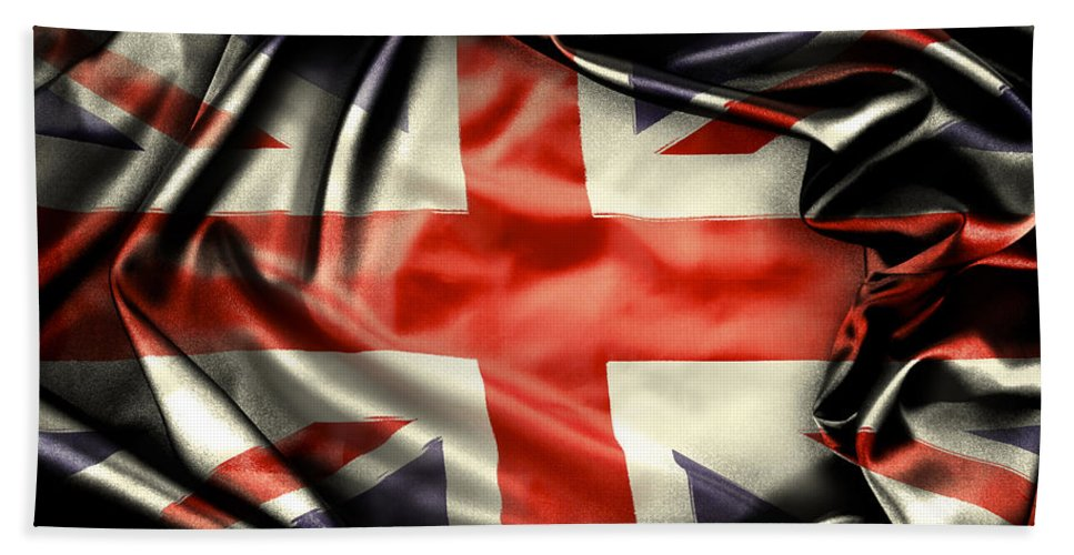 Flag Hand Towel featuring the photograph British Flag 10 by Les Cunliffe