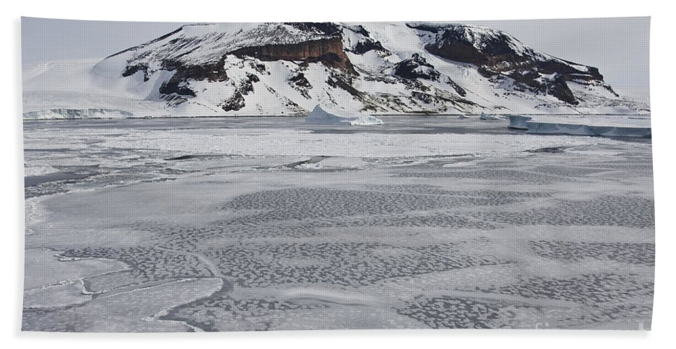 Pack Ice Hand Towel featuring the photograph Brown Bluff, Antarctica by John Shaw