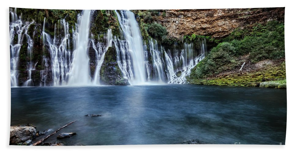 Burney Hand Towel featuring the photograph Burney Falls by Dianne Phelps