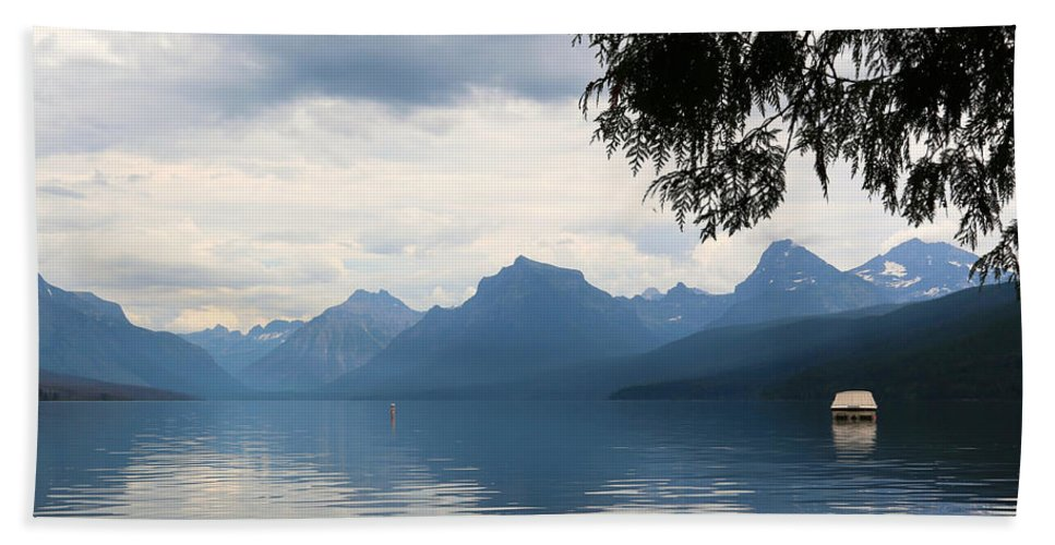 Glacier National Park Bath Sheet featuring the photograph Calm Before The Storm by Carol Groenen