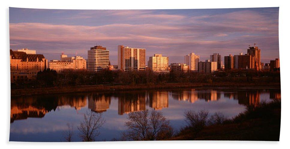 Photography Hand Towel featuring the photograph Canada, Saskatchewan, Saskatoon by Panoramic Images