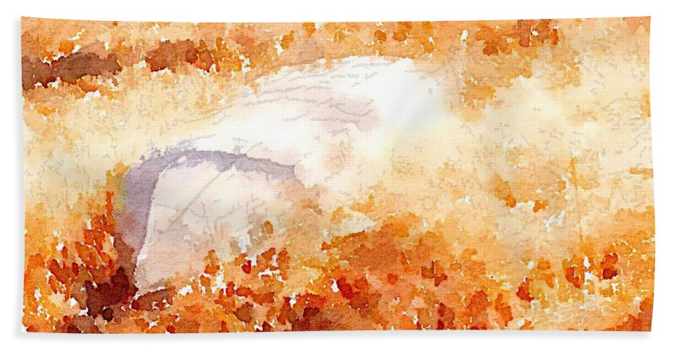 Canoe Bath Sheet featuring the digital art Canoe by Shannon Grissom