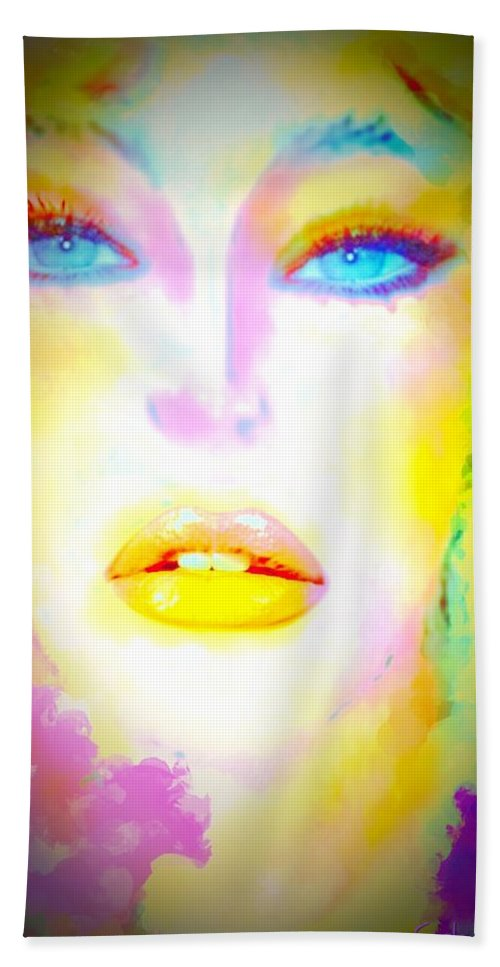 Carla Bath Sheet featuring the digital art Carla by Pikotine Art
