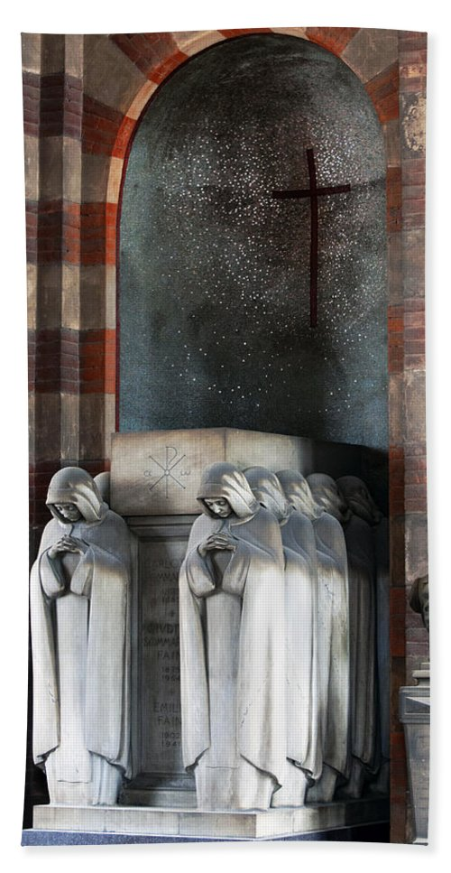 Horizontal Hand Towel featuring the photograph Carlotta Sommaruga Memorial Marker Monumental Cemetery by Sally Rockefeller