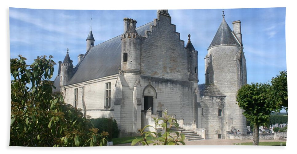 Castle Hand Towel featuring the photograph Castle Loches - France by Christiane Schulze Art And Photography