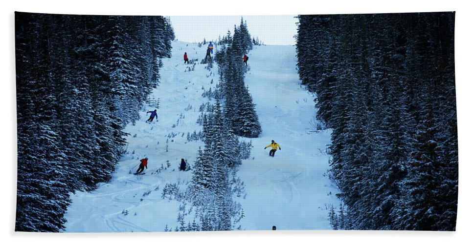 Winter Bath Sheet featuring the photograph Cat Skiing At Fortress Mountain by Todd Korol