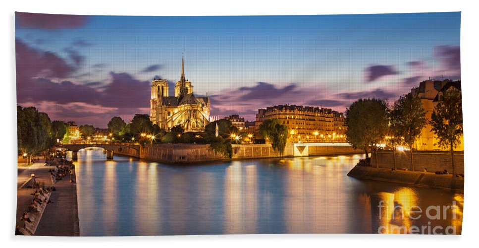 Notre Dame Bath Sheet featuring the photograph Cathedral Notre Dame by Brian Jannsen