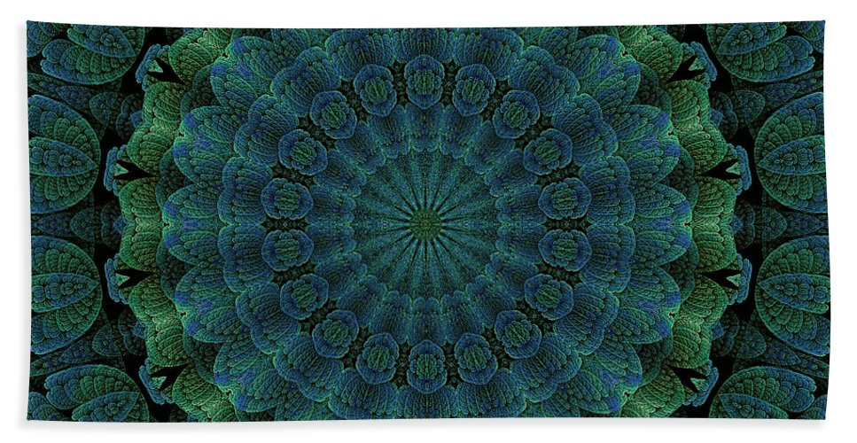 Fractal Bath Sheet featuring the digital art Celtic Corrugation by Doug Morgan