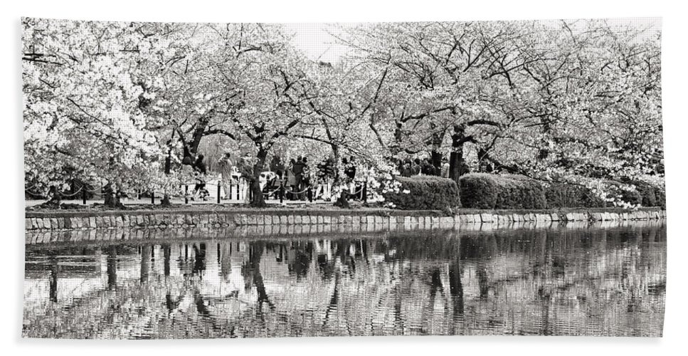 Tokyo Bath Sheet featuring the photograph Cherry Blossoms In Tokyo by For Ninety One Days