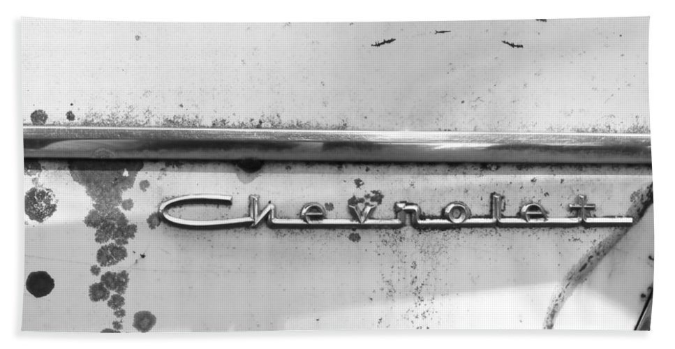 Bath Sheet featuring the photograph Chevrolet by Cathy Anderson