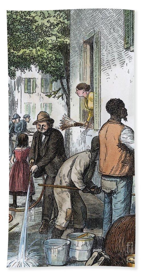 1873 Bath Sheet featuring the photograph Cholera Epidemic, 1873 by Granger
