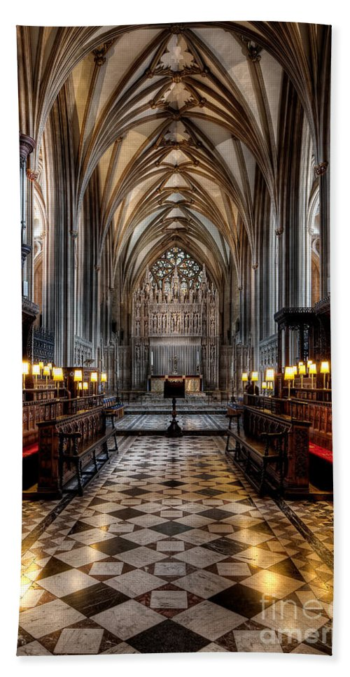 Aisle Hand Towel featuring the photograph Church Interior by Adrian Evans