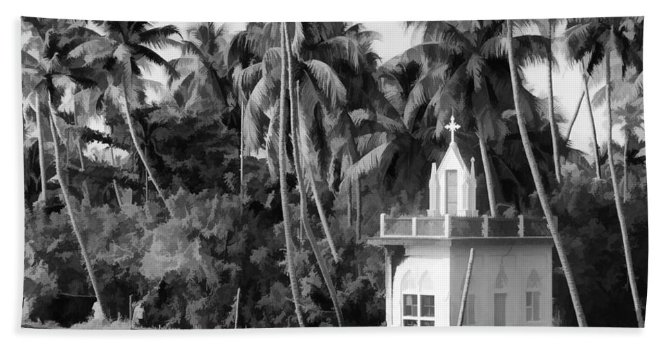 Building Bath Sheet featuring the digital art Church Located Next To A Canal by Ashish Agarwal